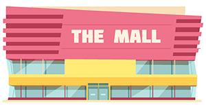 Modernes Einkaufszentrum